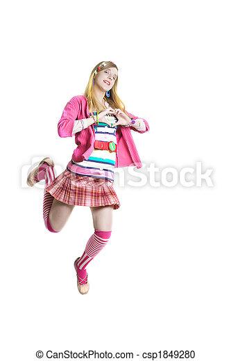 Teen mini skirt pink commit