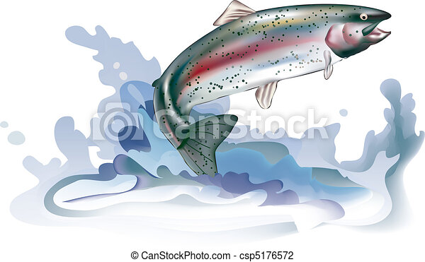 Jumping trout - csp5176572