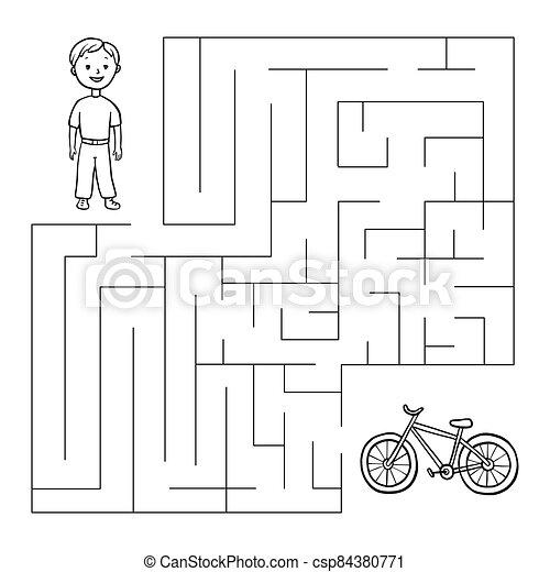 Junge fahrrad Illustrationen und Stock Art. 9.425 Junge
