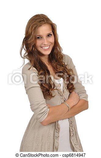 Junge Frau wartet - csp6814947