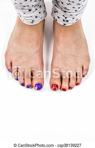 Männerfüße nagellack Nagellack für