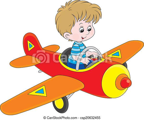junge, pilot - csp20632455