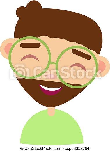 cartoon junge mit brille