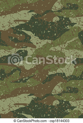 Jungle and mud camouflage pattern. - csp18144303