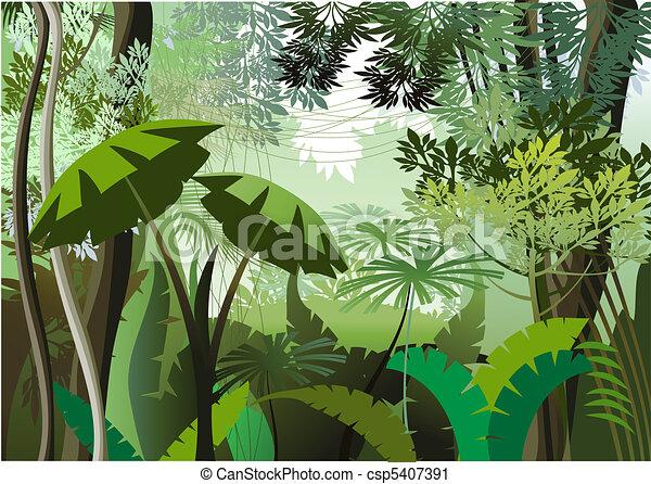 jungle day overgrown plants in the jungle rh canstockphoto com jungle animal clipart free jungle book clip art free