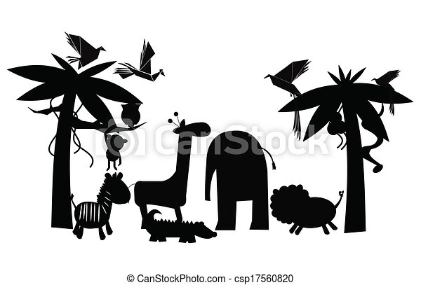 Jungle Friends Outline Animals From The Jungle Gathering