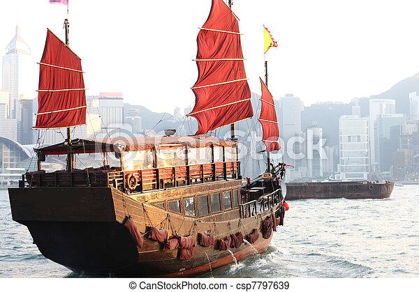 junk boat - csp7797639