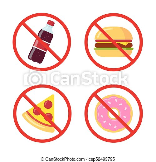 no junk food icons sugary soda drink burger pizza and eps rh canstockphoto ca