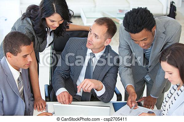 junto, plano, negócio, trabalhando, businessteam - csp2705411