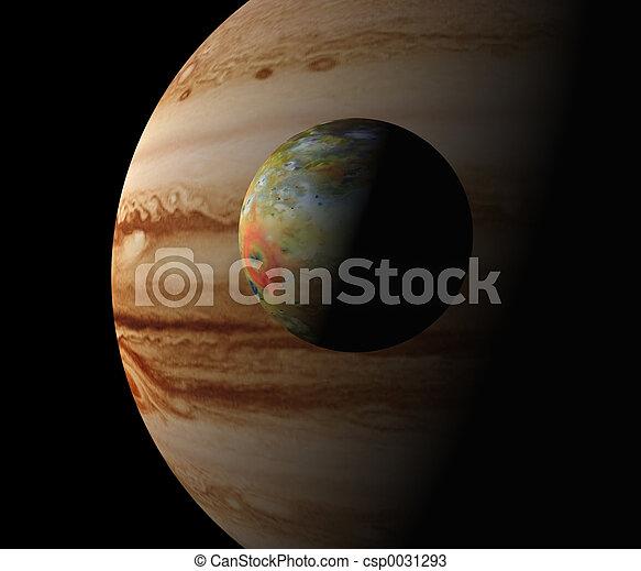 Jupiter and Io - csp0031293