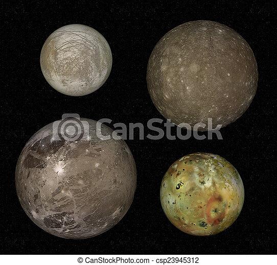 jupiter and moons - csp23945312