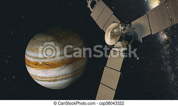 jupiter and satellite juno - csp38043322