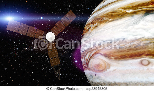 jupiter and satellite juno - csp23945305