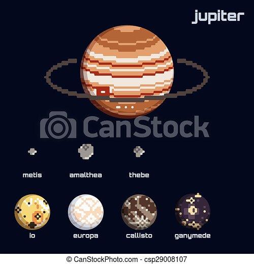 jupiter, retro, lunes - csp29008107