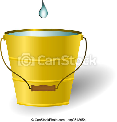 Just A Drop In The Bucket Vector - csp3843954
