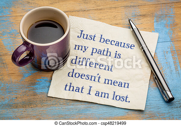 Just because my path is different ... - csp48219499