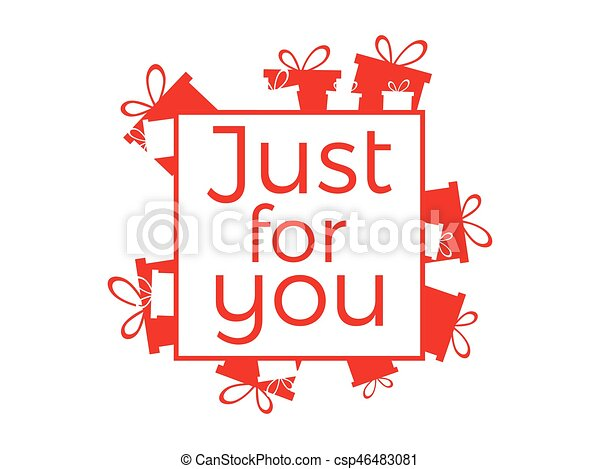Just for you lettering for greeting card banner poster vector just for you lettering for greeting card banner poster and print vector illustration m4hsunfo Images