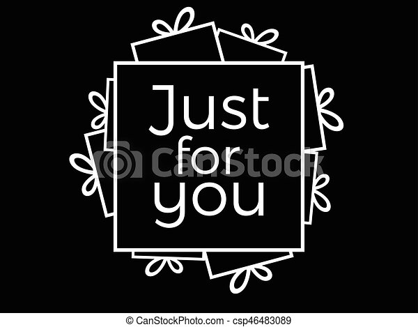 Just for you lettering for greeting card banner poster and print just for you lettering for greeting card banner poster and print vector illustration m4hsunfo