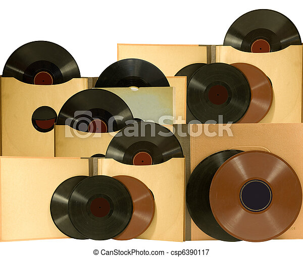 just love to listen to old records - csp6390117