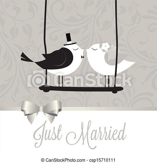 Just married birds - csp15710111