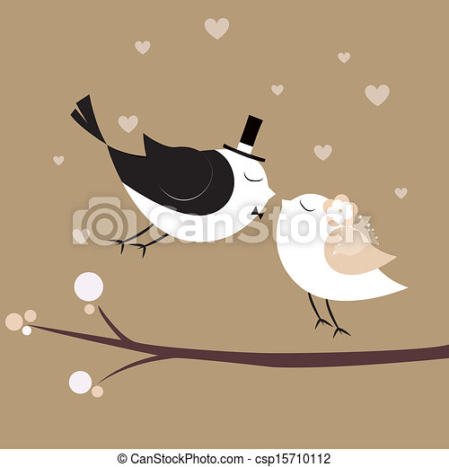 Just married birds - csp15710112