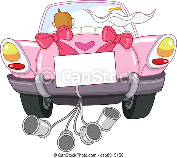 Just married car - csp8315158
