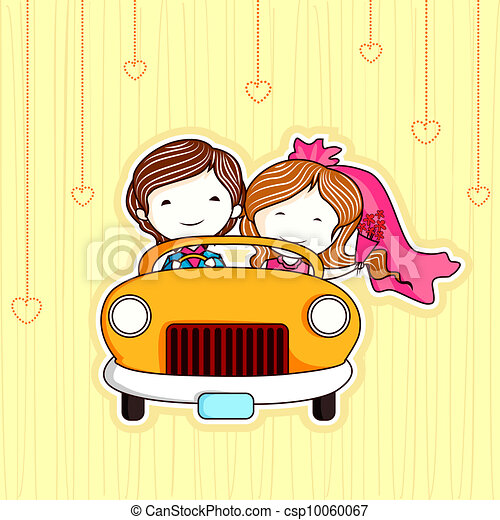 Just Married Couple - csp10060067