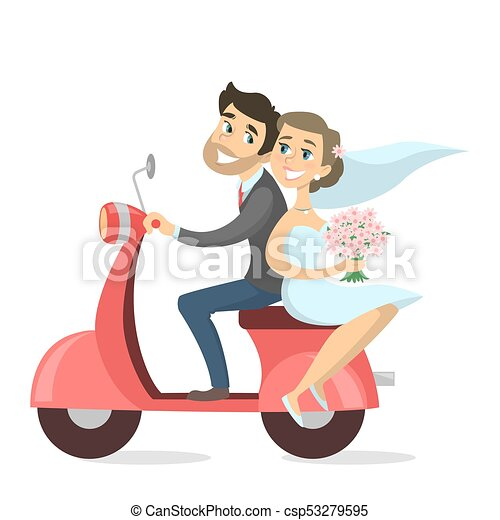 Just married couple. - csp53279595