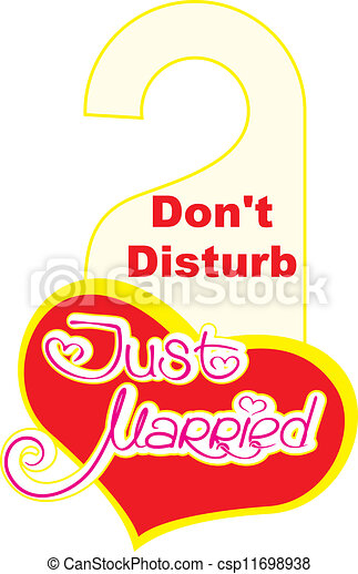 just married do not disturb sign