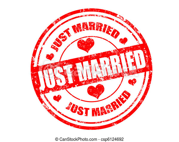 just married stamp - csp6124692