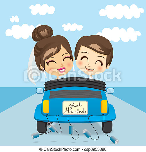 Just Married Trip - csp8955390