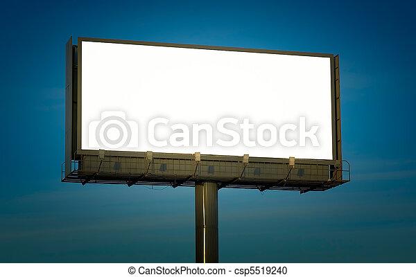 juste, texte, ajouter, panneau affichage, vide, ton - csp5519240