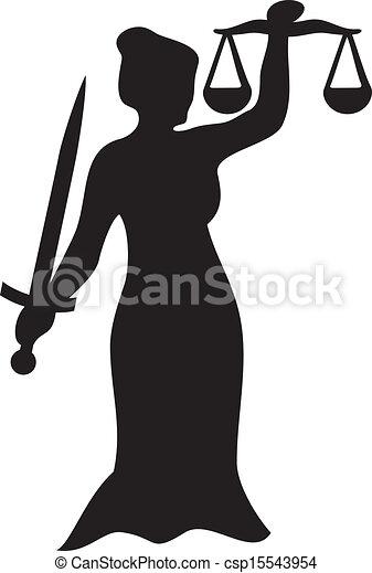 justiça, estátua, senhora - csp15543954