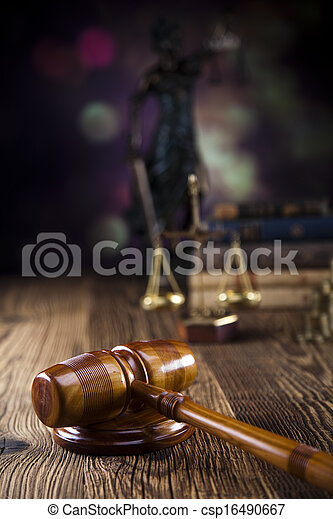 justiça, livro, gavel, lei, escalas - csp16490667