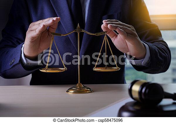 justiça, seguro lar, conceito, lei - csp58475096