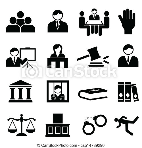 Justice and legal icons - csp14739290