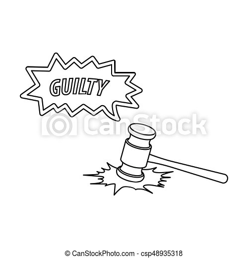 Justice and sentence  E-commerce single icon in outline style vector symbol  stock illustration web