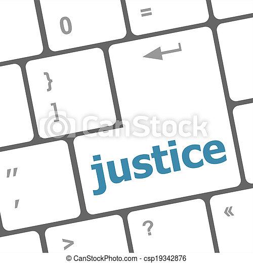 justice, bouton, clés, clavier, droit & loi, concept: - csp19342876