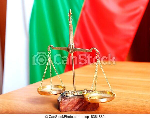 justice, bulgare, droit & loi, drapeau, symbole - csp18361882