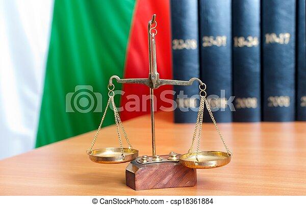 justice, bulgare, droit & loi, drapeau, symbole - csp18361884