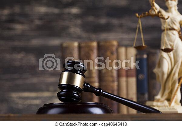 justice, concept, dame, statue, droit & loi - csp40645413