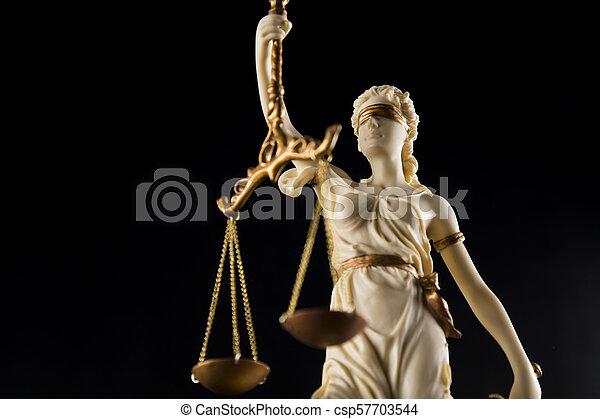 justice, concept, droit & loi, balances - csp57703544