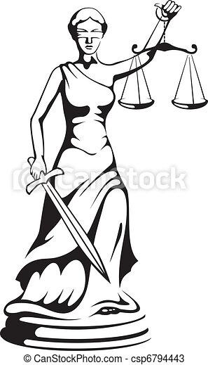 justice, -, déesse, themis - csp6794443