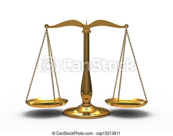 justice, doré, balances - csp15213611