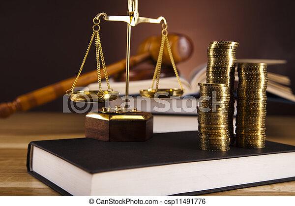 justice, droit & loi, balances - csp11491776