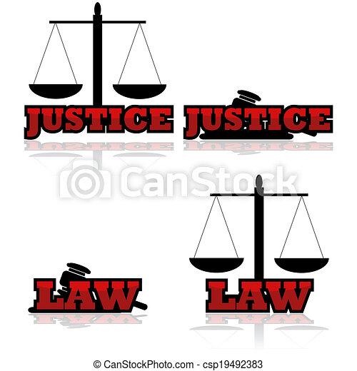 Justice icons - csp19492383