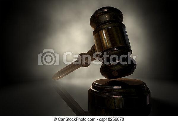 justice, marteau - csp18256070