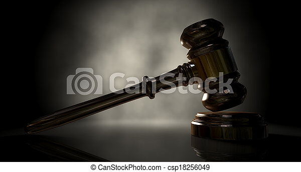 justice, marteau - csp18256049