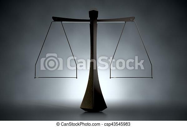 justice, moderne, balances - csp43545983