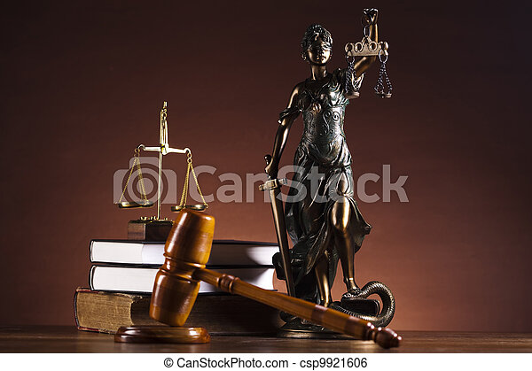 Justice Scale and Gavel - csp9921606